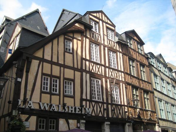 Le case a graticcio di Rouen