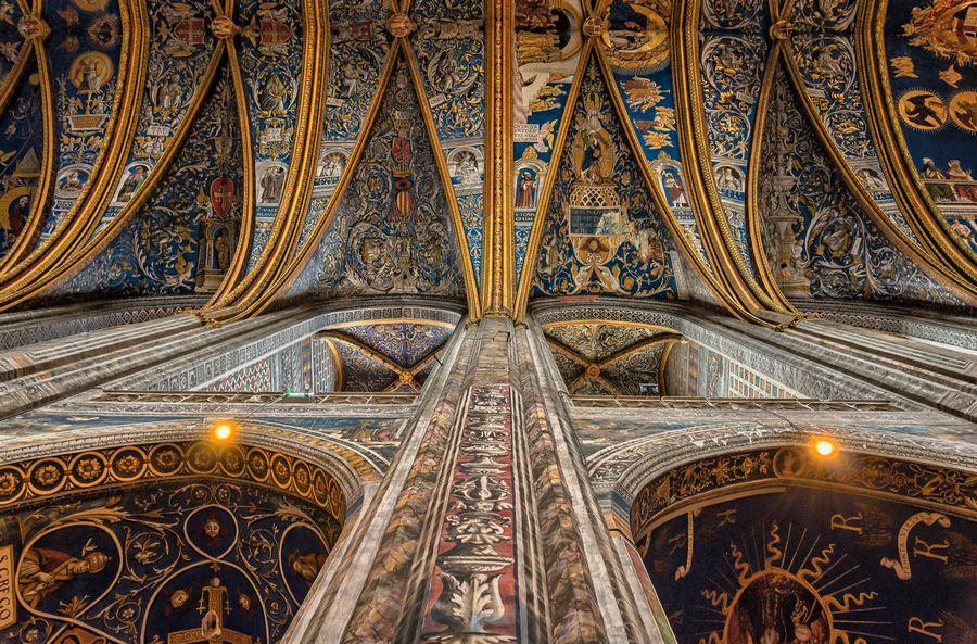 Albi: interno della Cattedrale di Santa Cecilia
