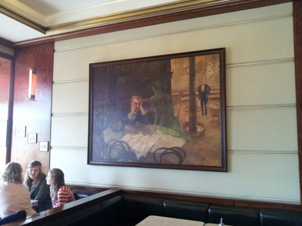 Il bevitore di Assenzio all'interno del Café Slavia