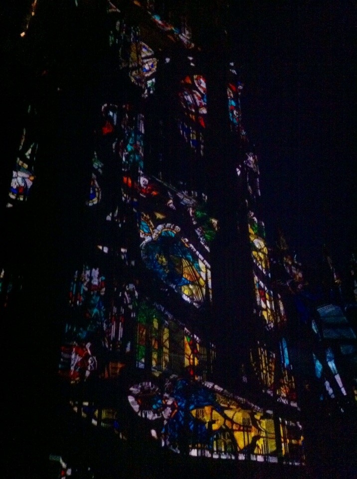Strasburgo: cattedrale illuminata